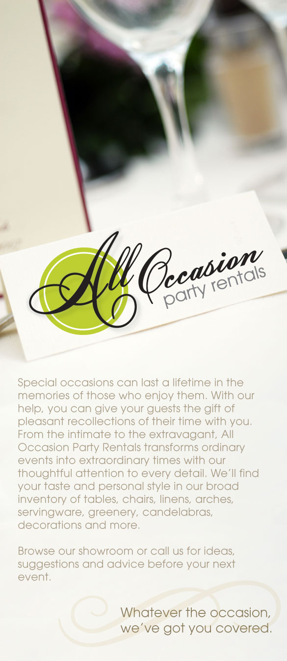 Brochure: All Occasion Party Rentals