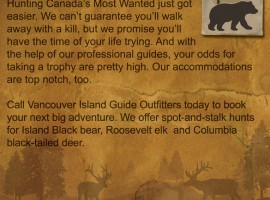 Ad Design: Vancouver Island Outfitters